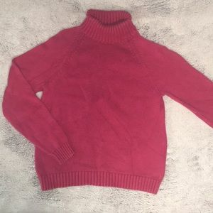 Lands End Pink Turtleneck Sweater size Small